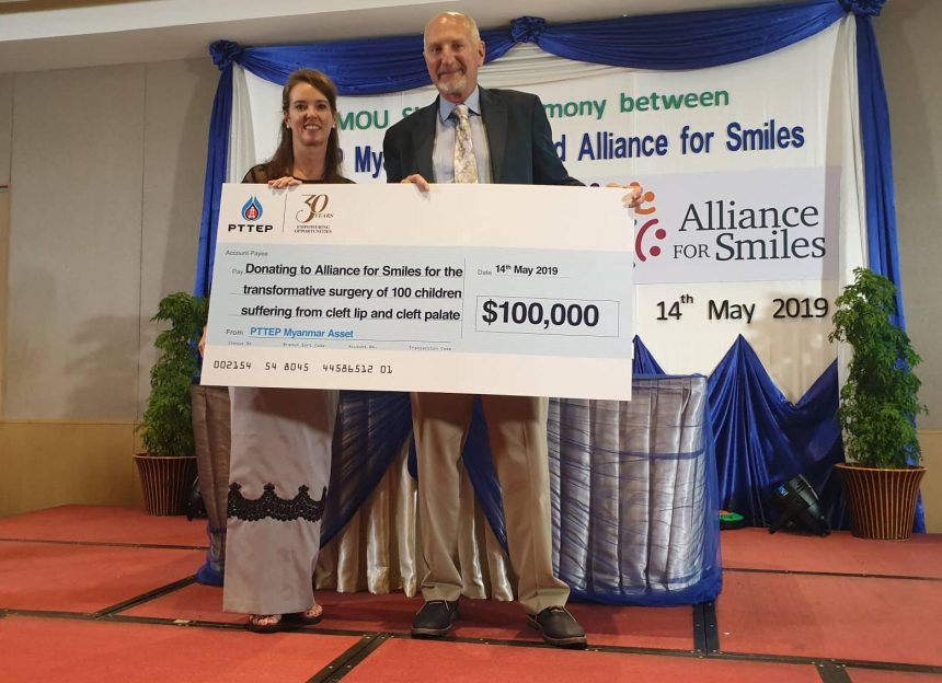 AfS receives $100,000 donation from PTTEP in Myanmar